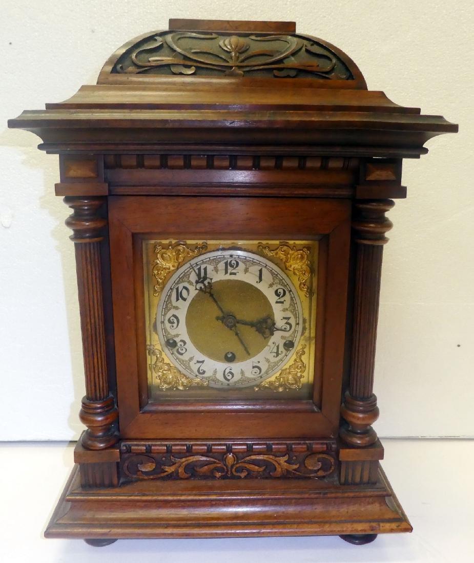 German bracket clock in Art Nouveau case