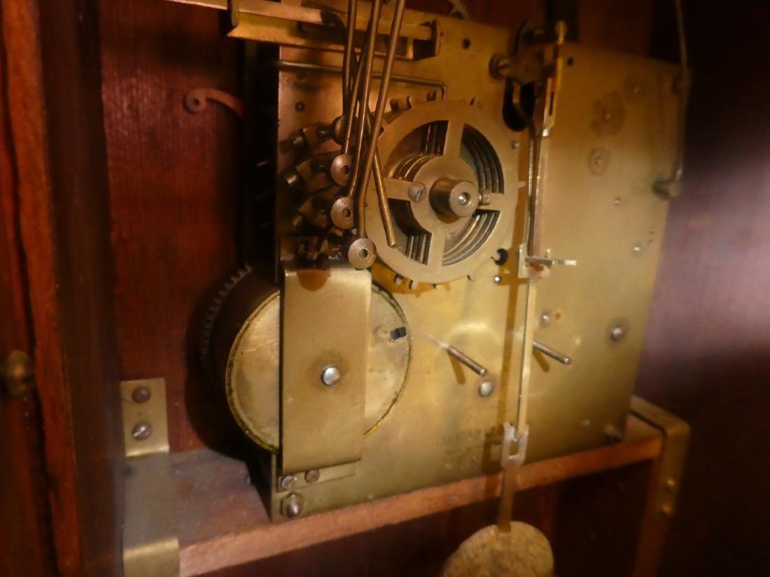 German bracket clock in Art Nouveau case - 5