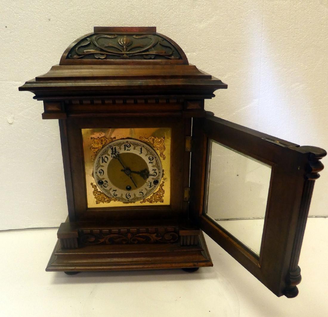 German bracket clock in Art Nouveau case - 6