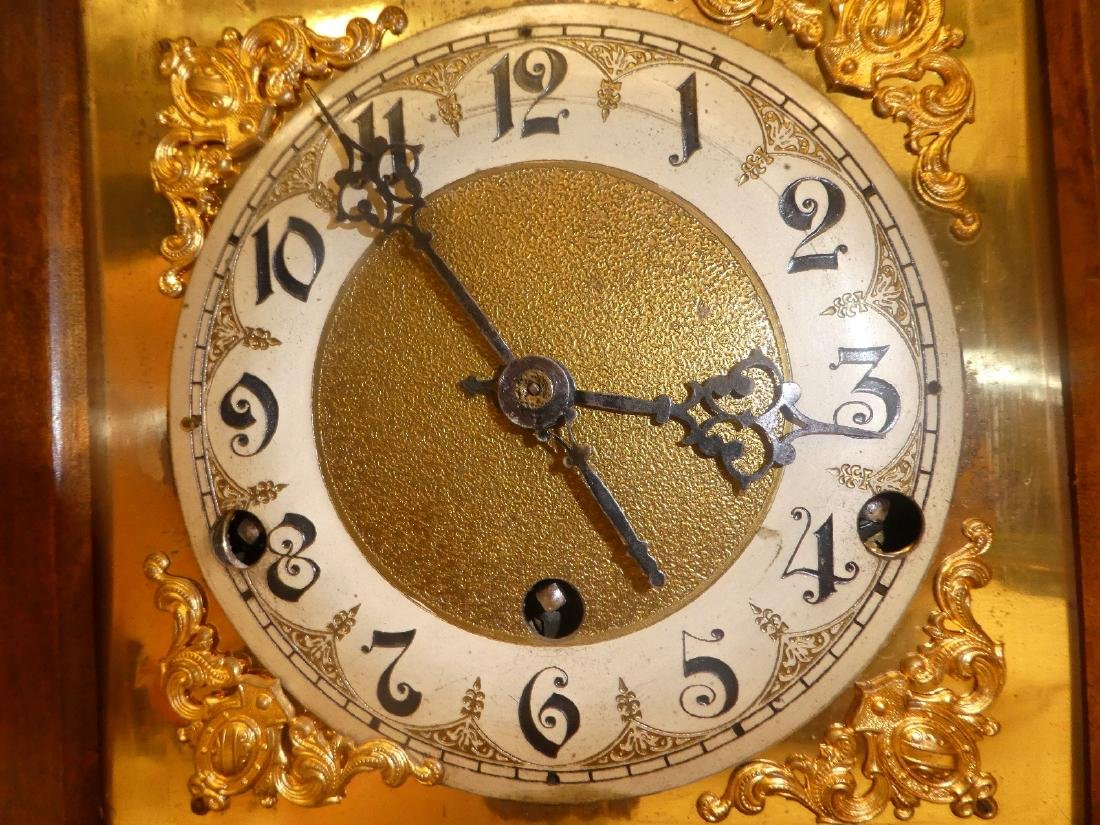 German bracket clock in Art Nouveau case - 7
