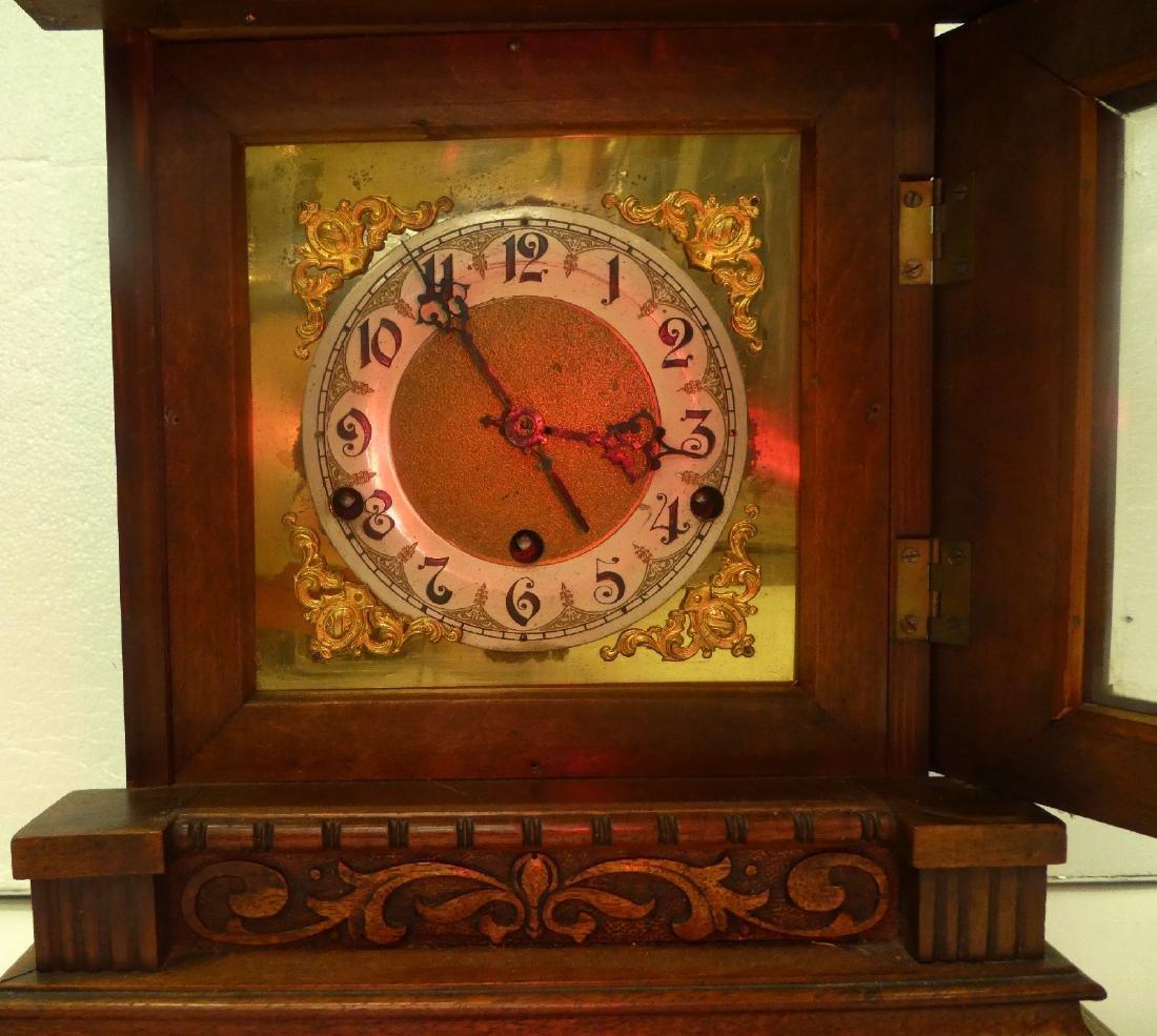 German bracket clock in Art Nouveau case - 8