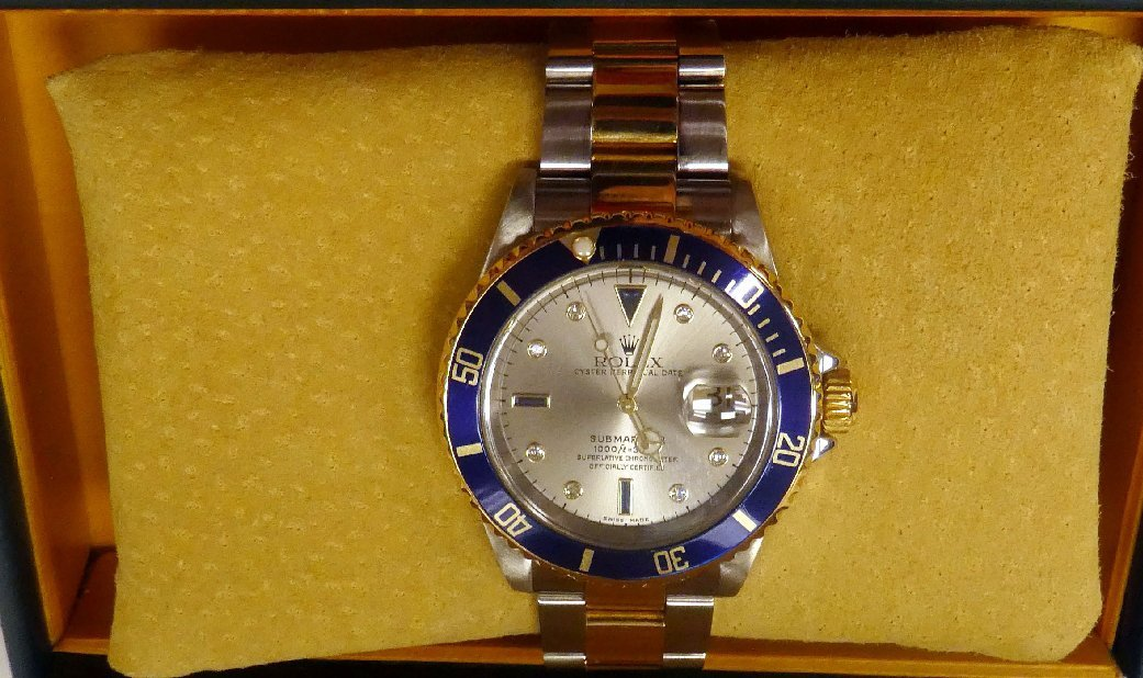 Men's Rolex Submariner datejust watch