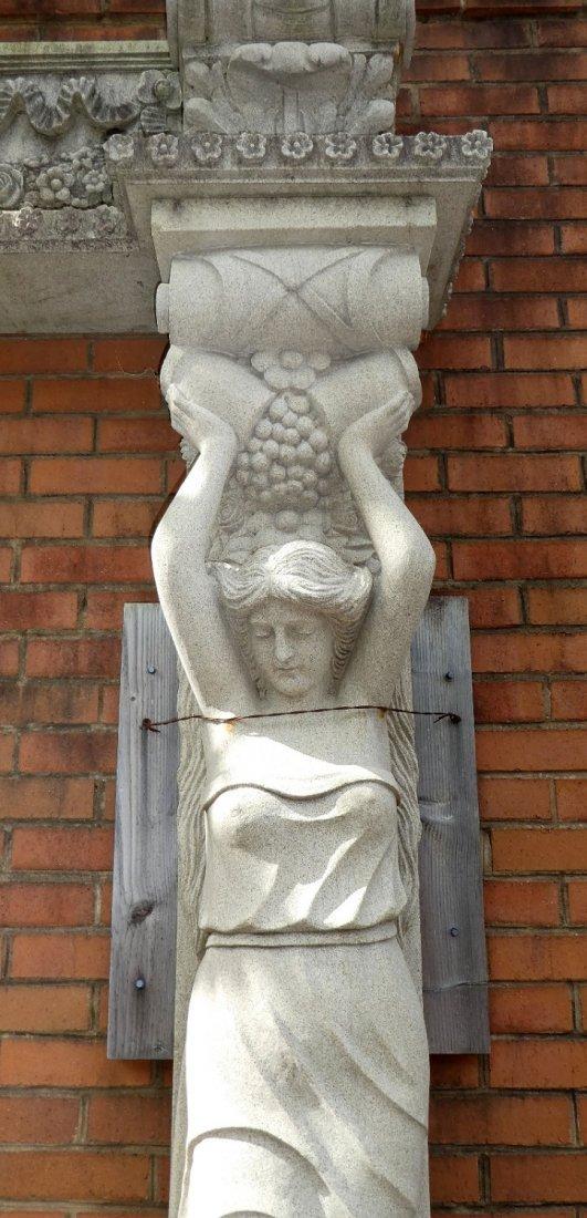 Belgian cut stone figural entry way - 4