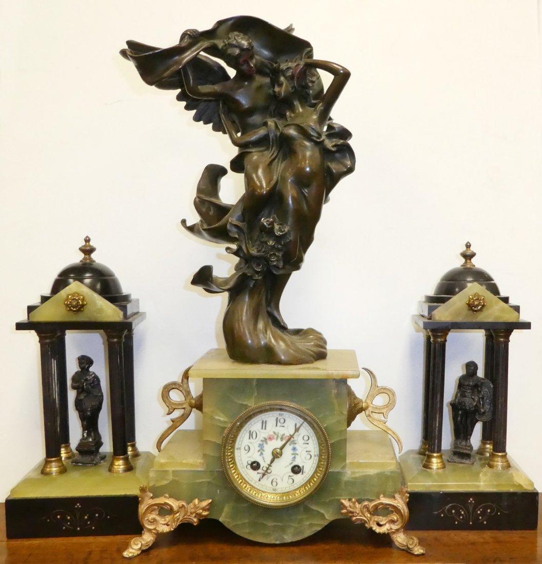 French Marti Cupid & Psyche mantel clock