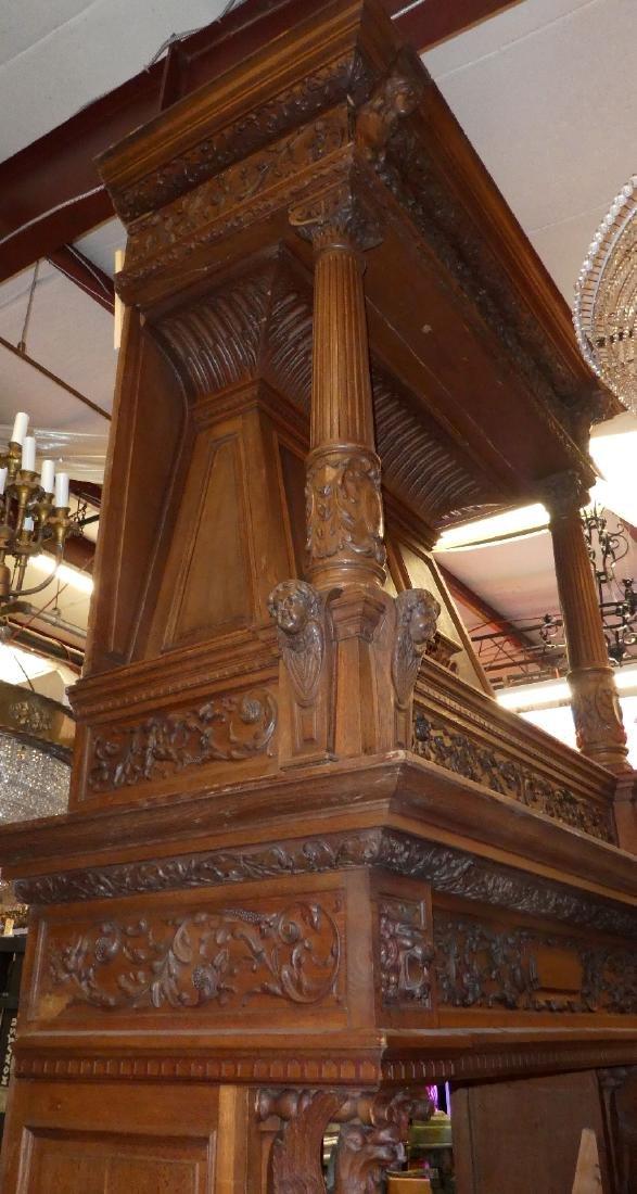 Grand scale French Renaissance mantel - 2