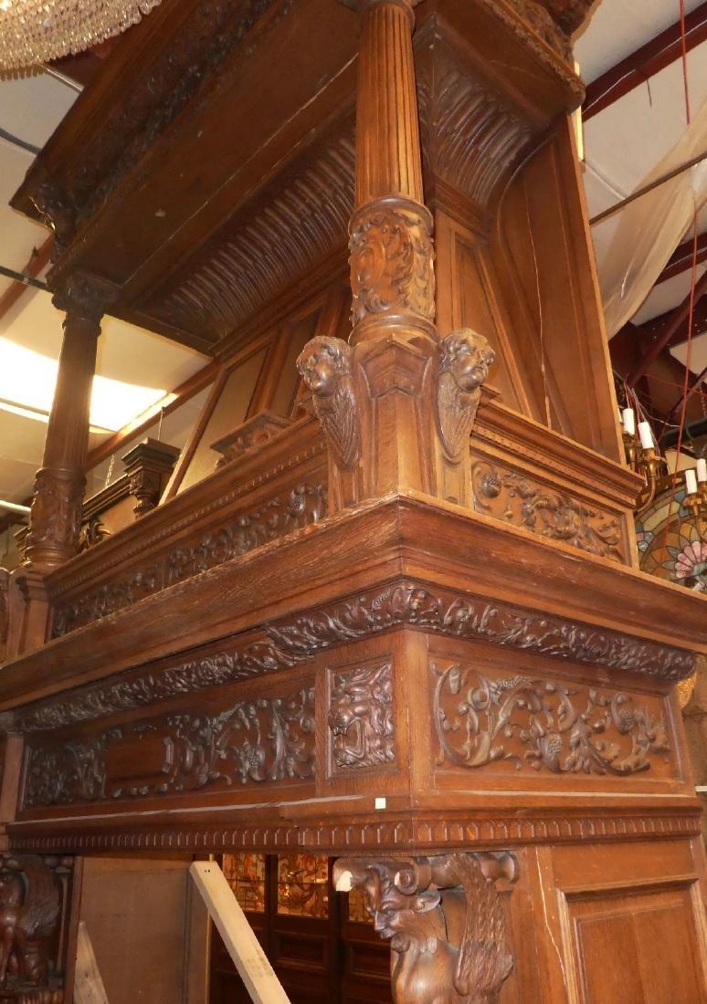 Grand scale French Renaissance mantel - 3