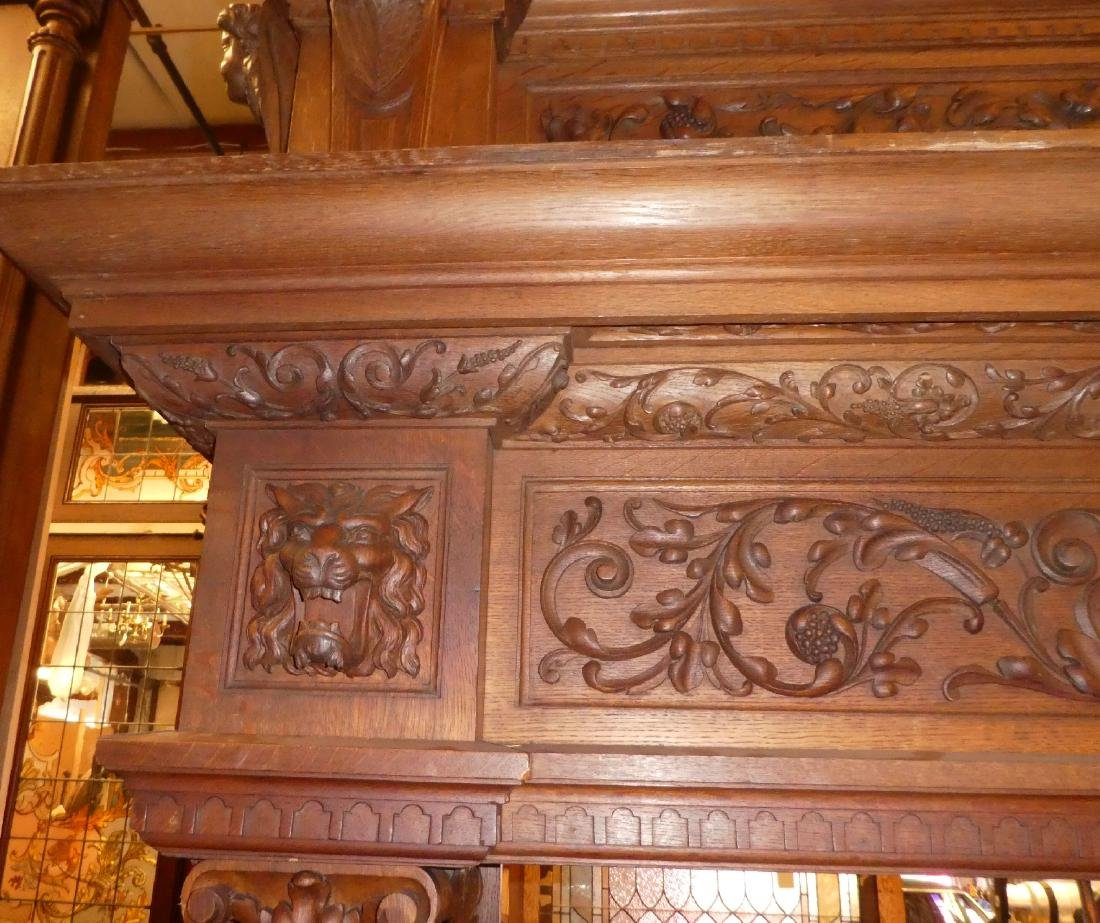 Grand scale French Renaissance mantel - 5