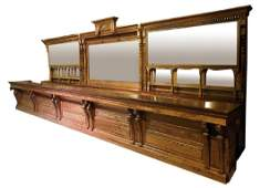 Victorian front and back bar in oak