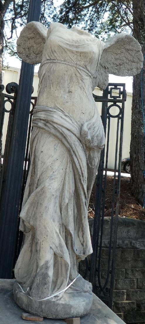 Cast Winged Victory statue on pedestal - 4