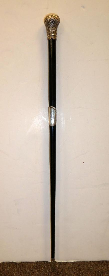 Antique English sterling silver conductor's baton