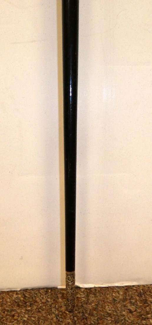 Antique English sterling silver conductor's baton - 2