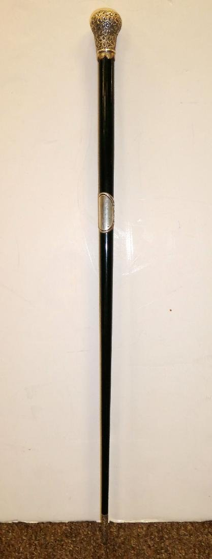 Antique English sterling silver conductor's baton - 3