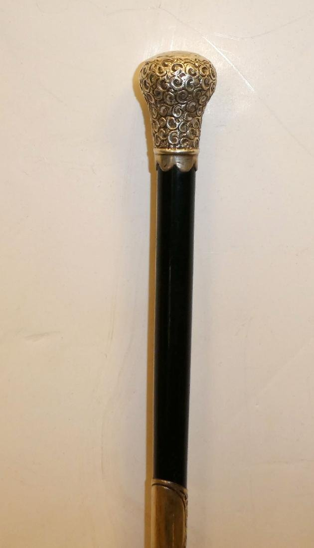 Antique English sterling silver conductor's baton - 4