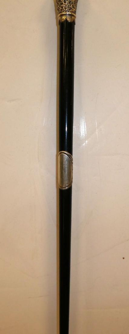 Antique English sterling silver conductor's baton - 5