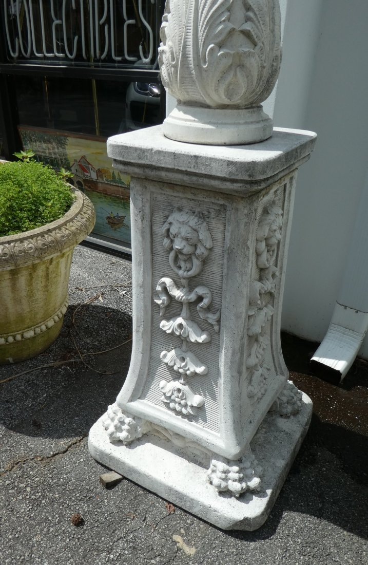Pair of Italian cast stone 4-arm streetlight - 4