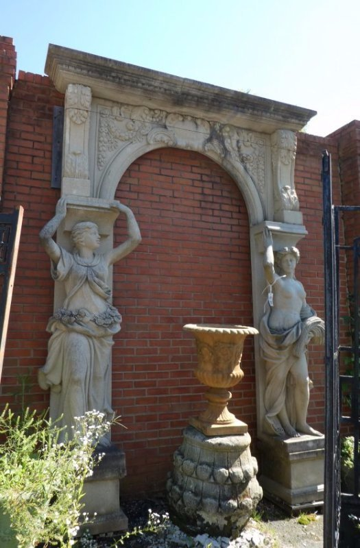 Figural stone arch with caryatids