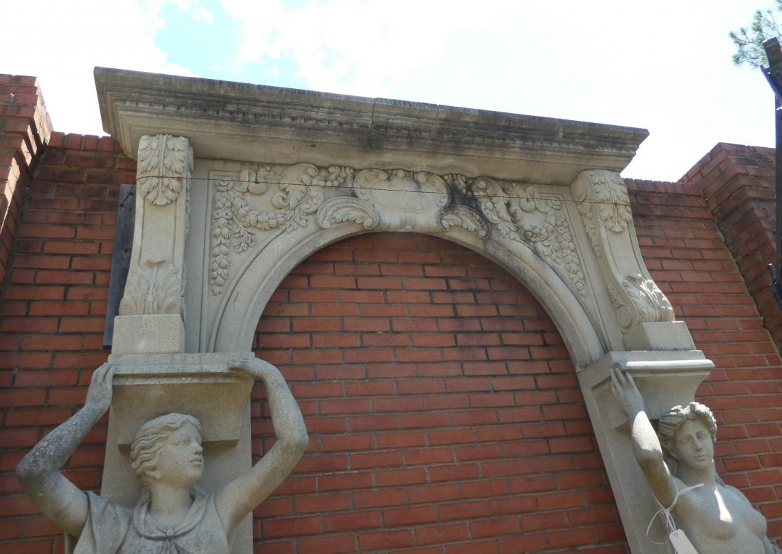 Figural stone arch with caryatids - 3