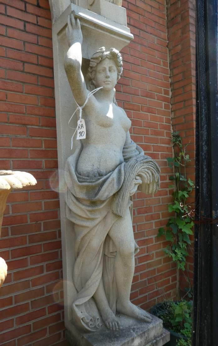 Figural stone arch with caryatids - 4