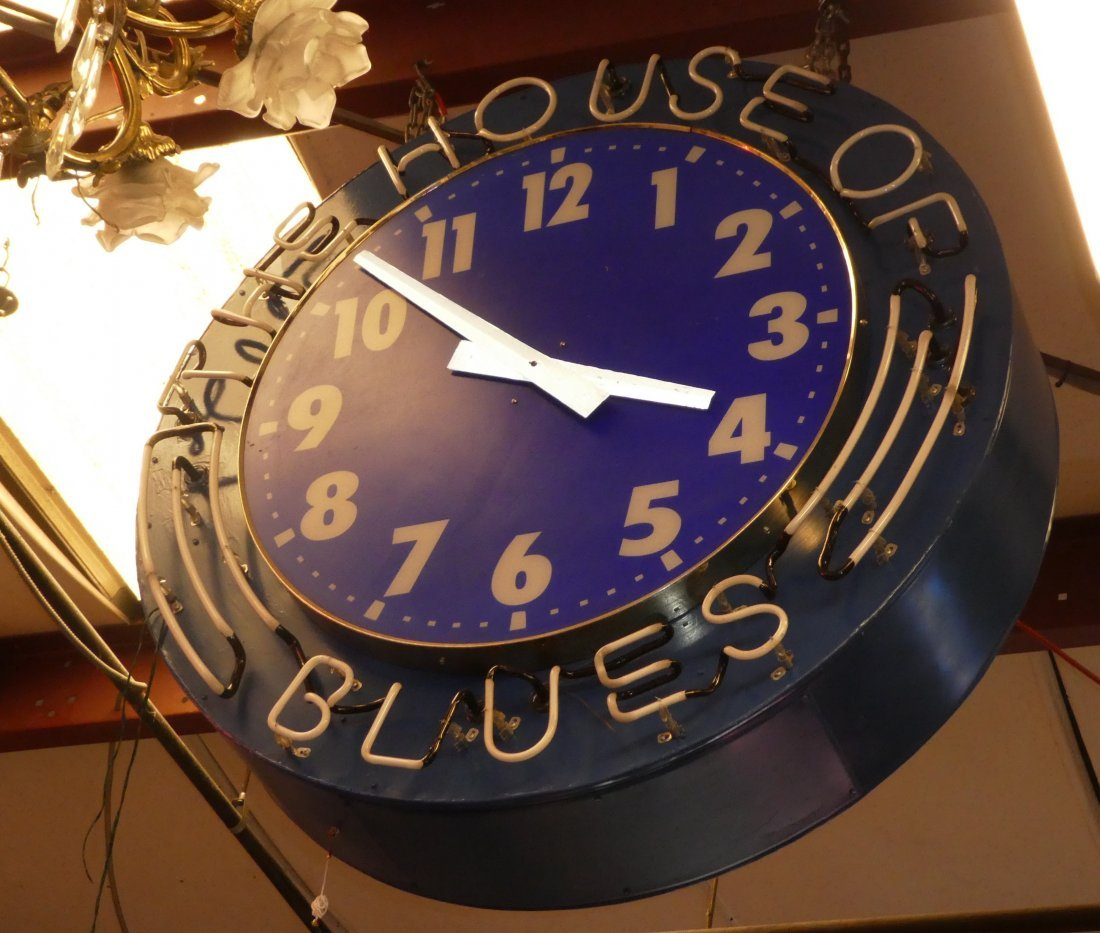 House of Blues neon clock - 2