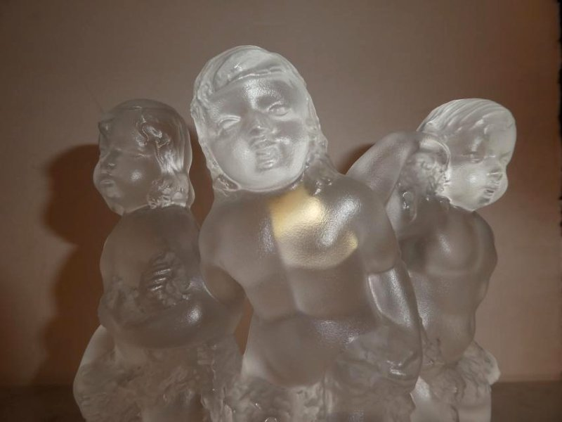 Lalique crystal Luxembourg cherub figurine - 2
