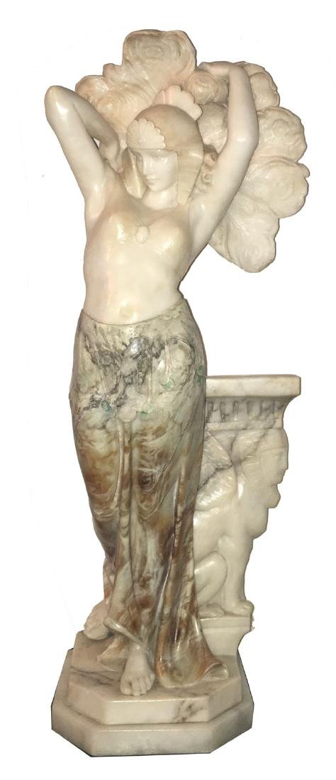 Carved alabaster sculpture of Cleopatra