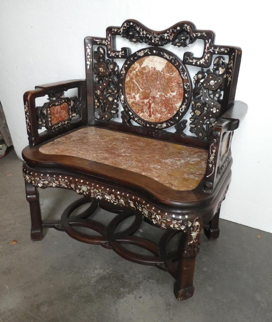 Chinese hardwood armchair
