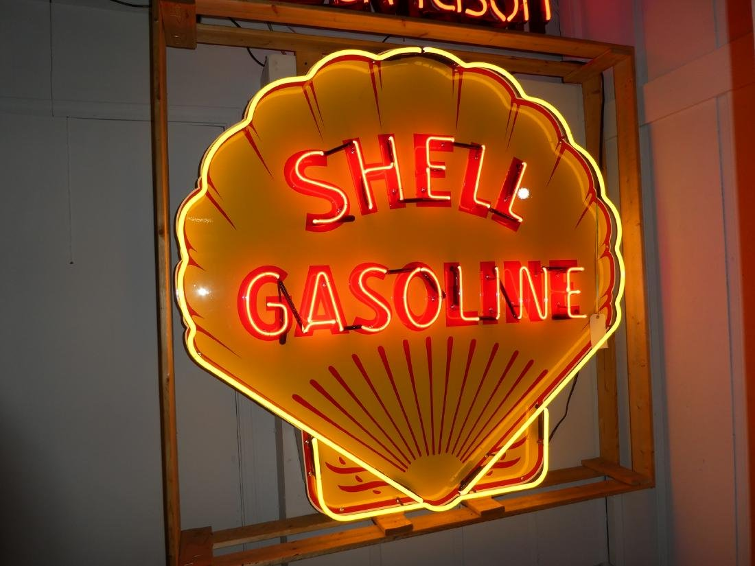 Shell gasoline neon advertising sign