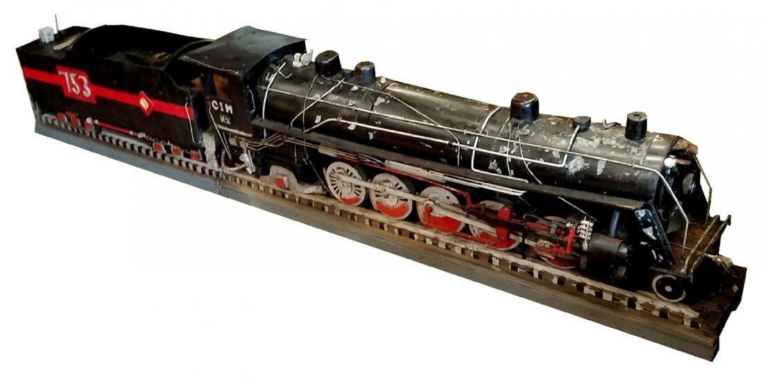 Antique model of a train