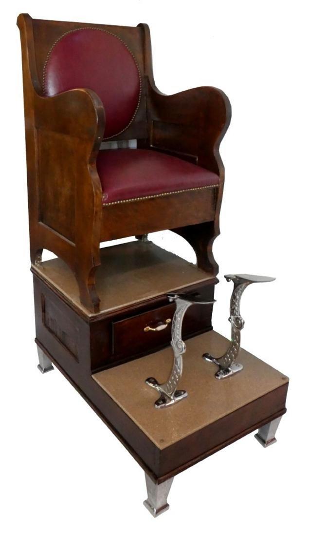 Single seat shoe shine stand