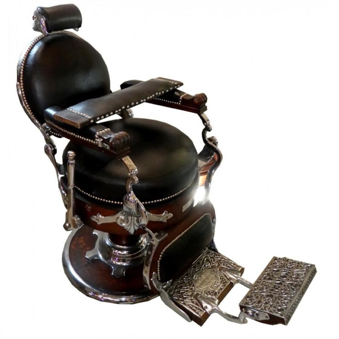 Rare Koken Congress round seat barber chair