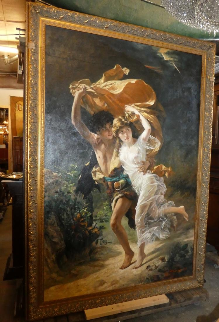 Large scale oil painting After Pierre Auguste Cot