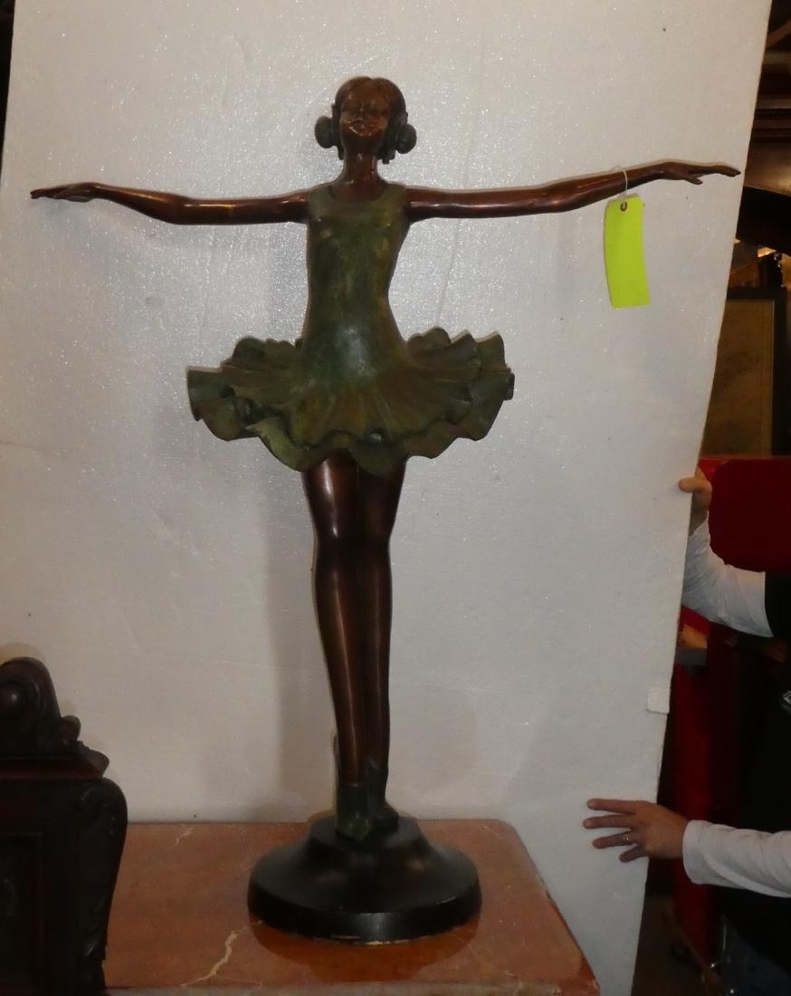 Bronze statue of ballerina