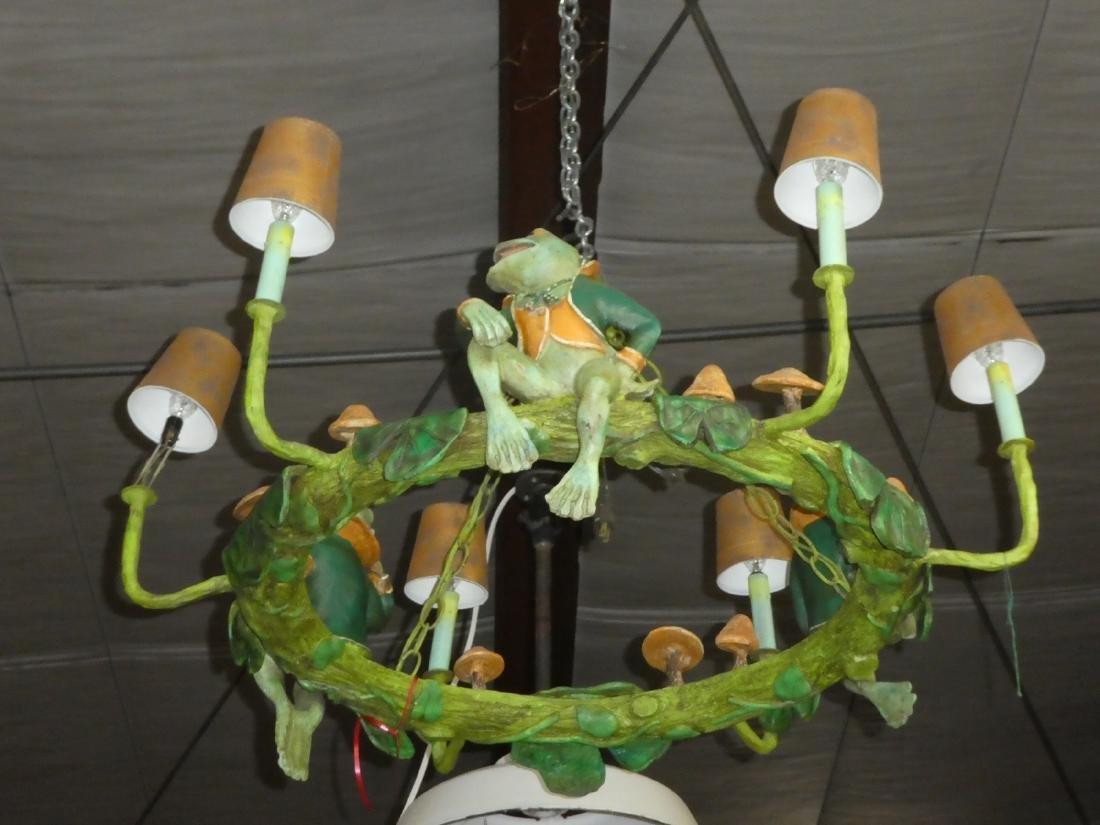 6-light whimsical frog chandelier