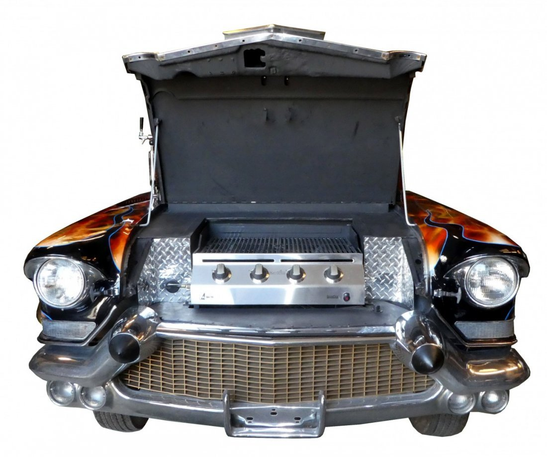 1957 Cadillac front bbq grill trailer