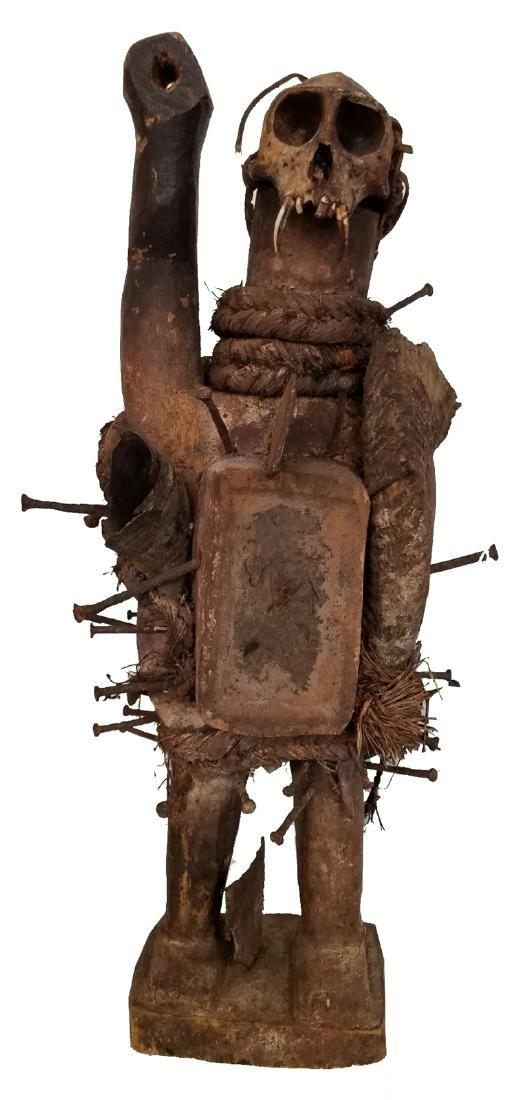 African ceremonial wooden figure