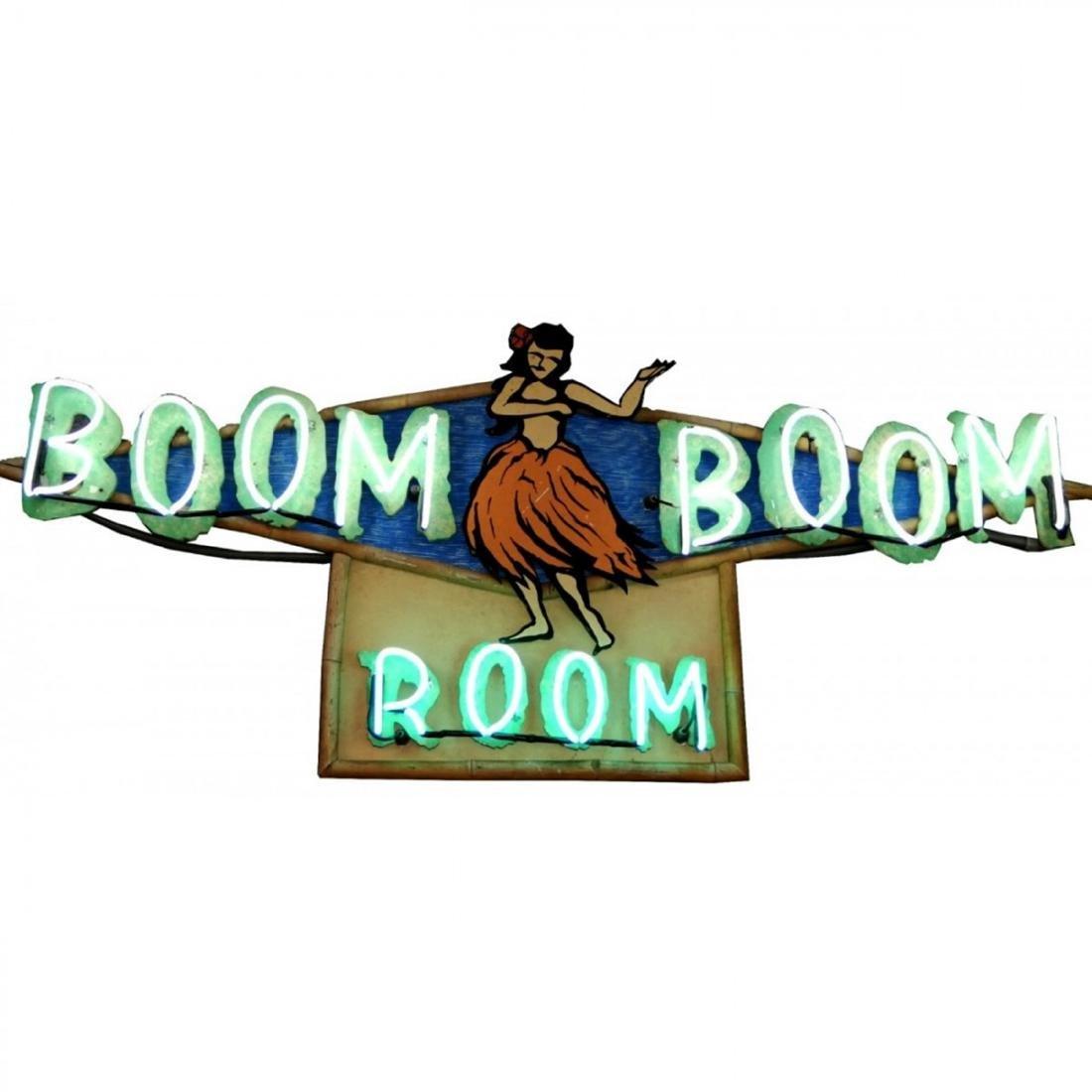 Original restored Boom Boom Room neon sign