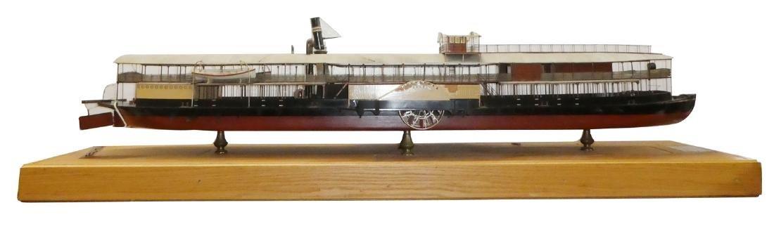 Builder model of Swati steel side paddle steamer