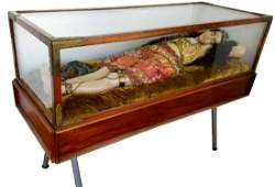 English Wax figure Automaton Death of Cleopatra