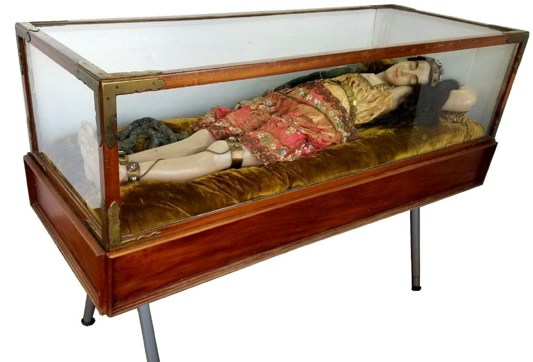 English Wax figure Automaton Death of Cleopatra