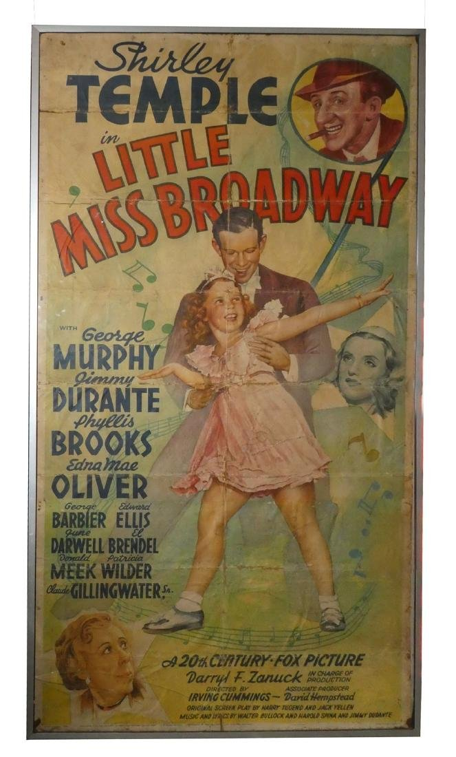 Shirley Temple Little Miss Broadway movie poster