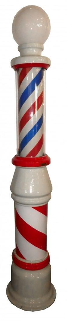 Koken porcelain & cast iron barber shop pole