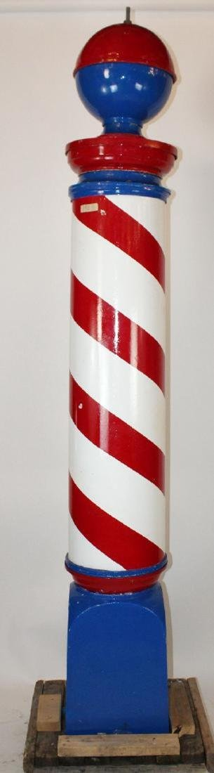 American stand up barber pole