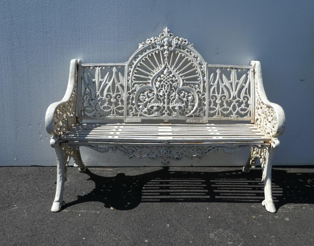 Cast iron Victorian style park bench