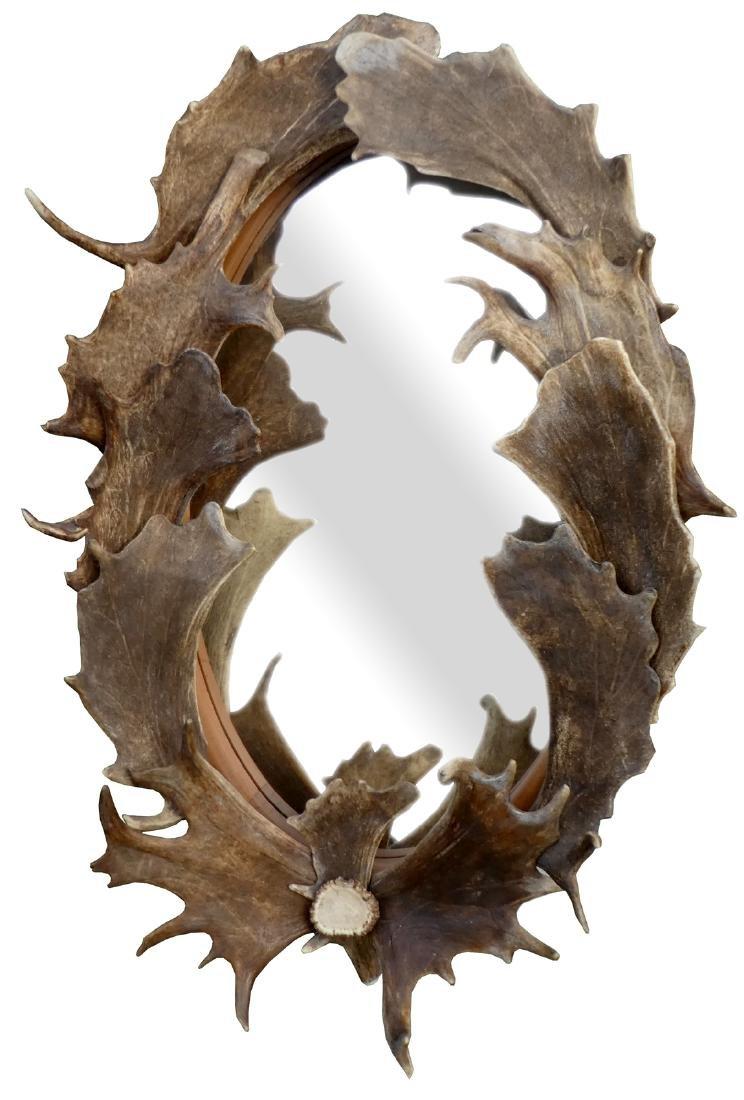 Caribou antler mirror