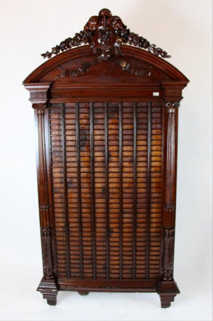 French carved mahogany building marquis directory