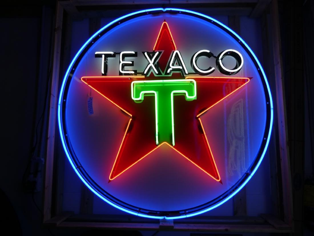 Texaco neon advertising sign