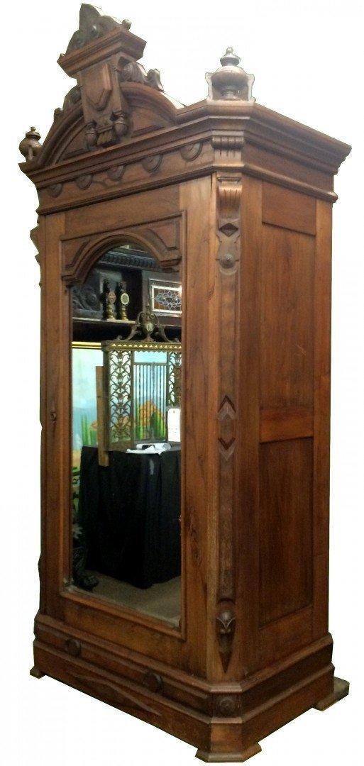 American Victorian armoire in mahogany