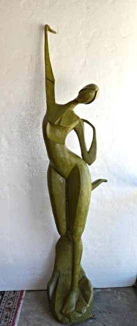 Art Modern style abstract figural nude sculpture