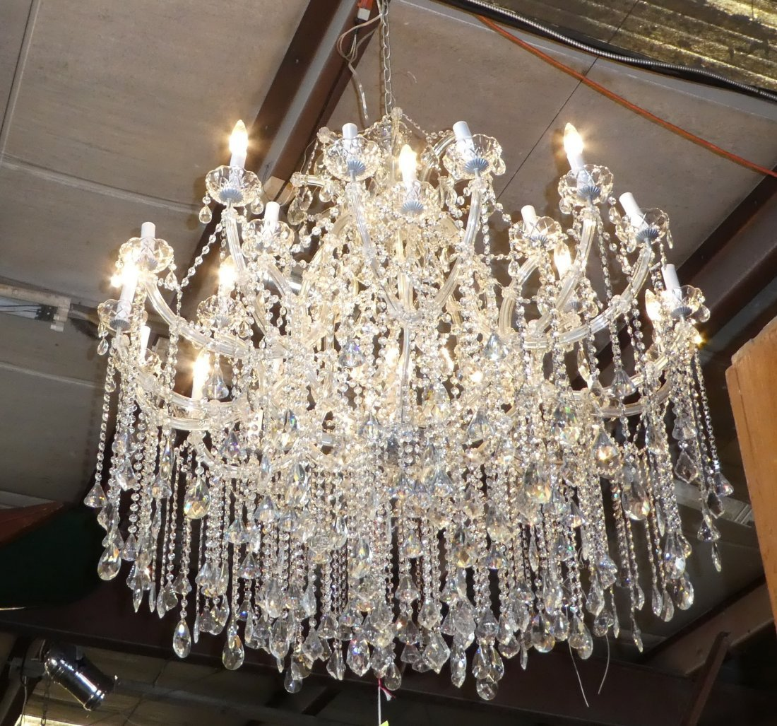 24-light Maria Teresa style crystal chandelier