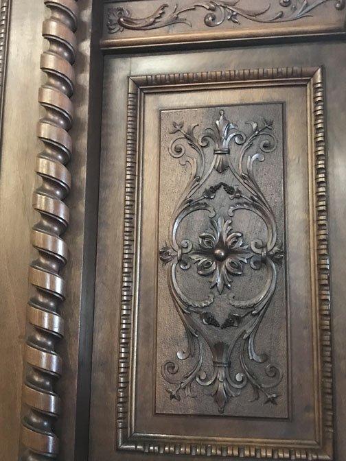 Italian Triple Door Carved Armoire - 3